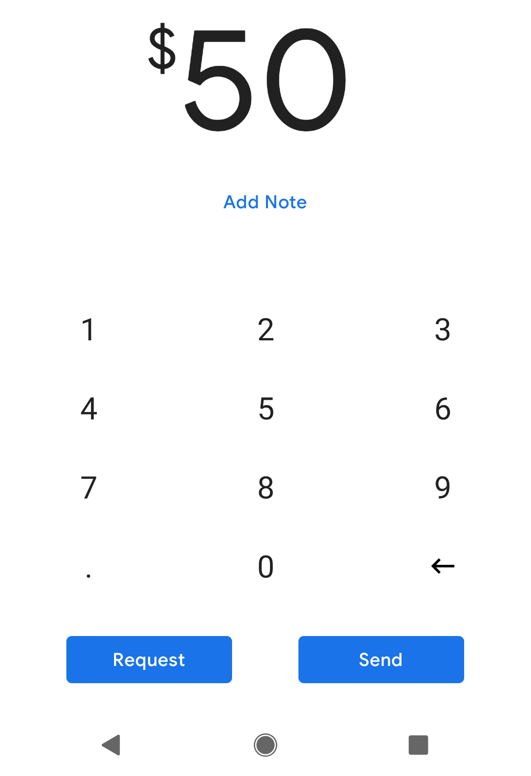 Send money with Google Pay.
