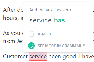 Grammarly provides advanced spelling and grammar correction for free.