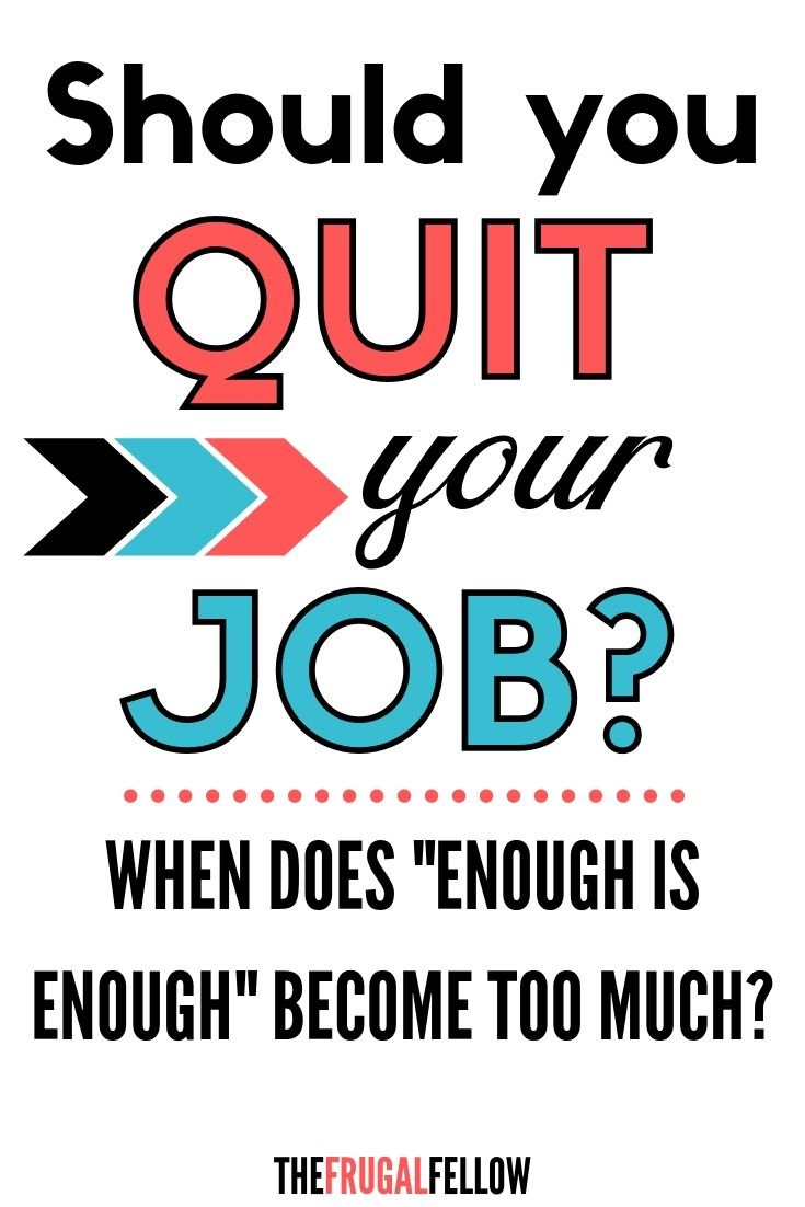 If you want to quit a job, how do you know when enough is enough? In this post I talk about my experience of quitting job and why I felt the need to leave.