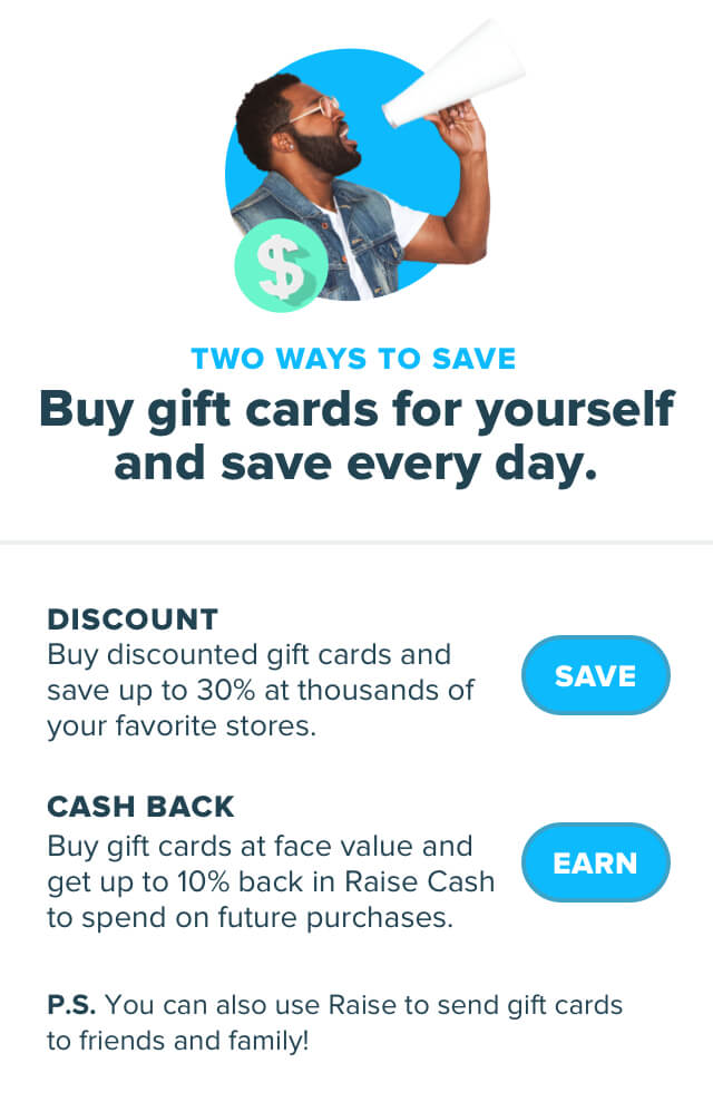 Frugal Living Raise Gift Cards