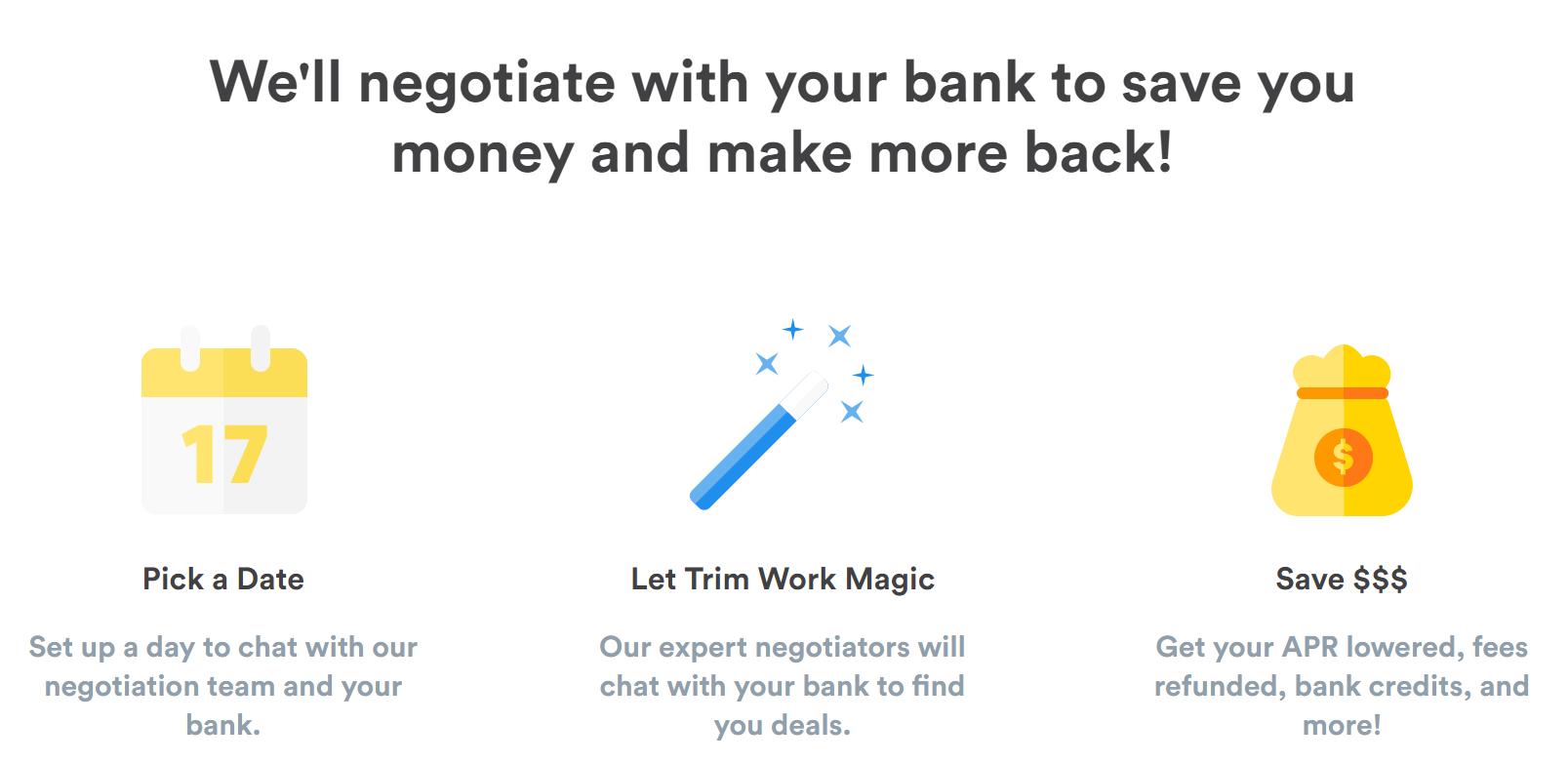 Ask Trim Review Bank Negotiation