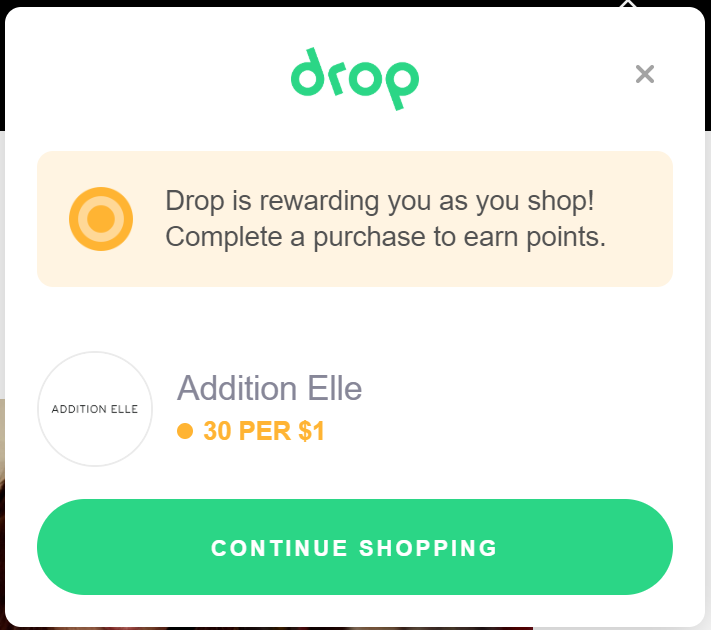 Drop App review Chrome extension shopping