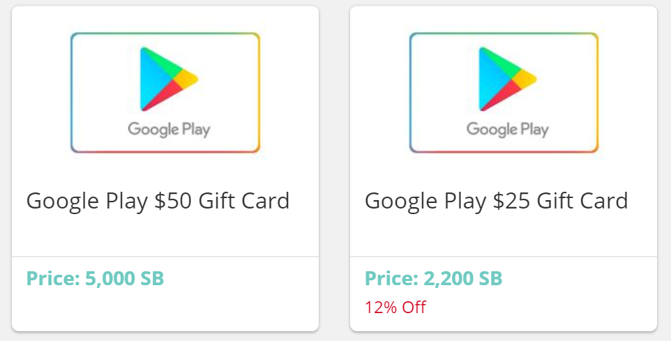 Free Google Play Redeem codes - Swagbucks