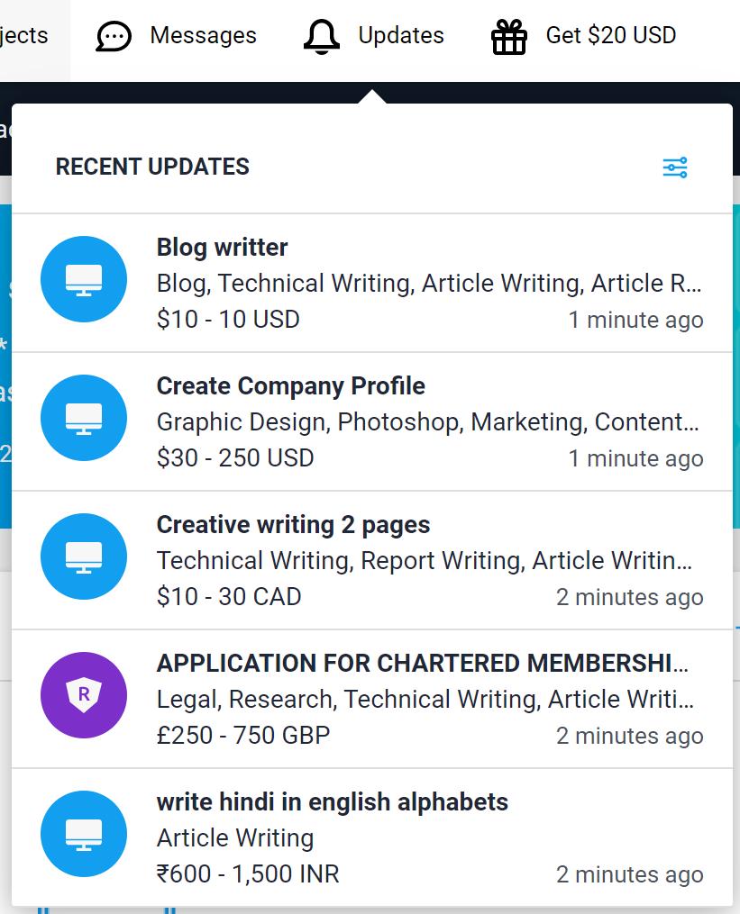Freelancer Updates