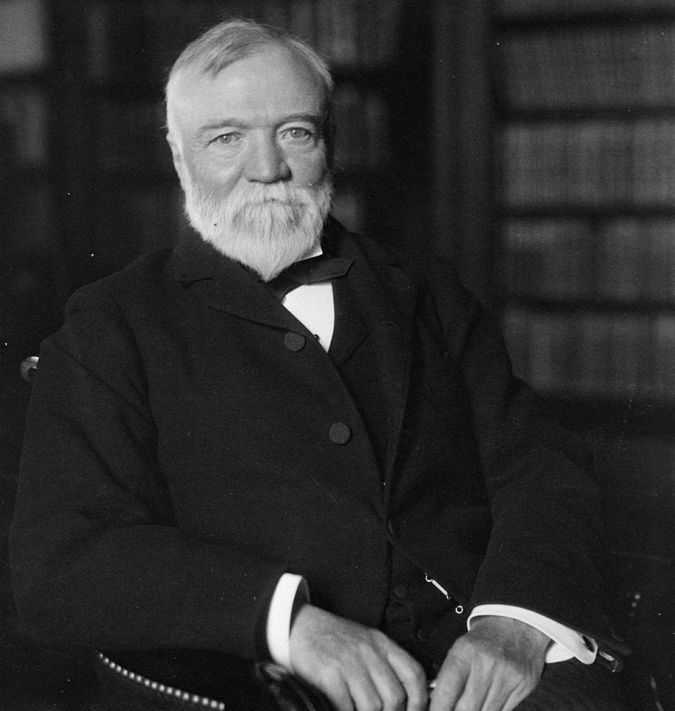 Millionaires giving away money - Andrew Carnegie