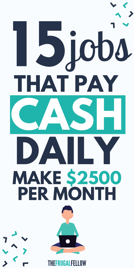 These online jobs that pay daily will let you work from home and make extra money on the side.