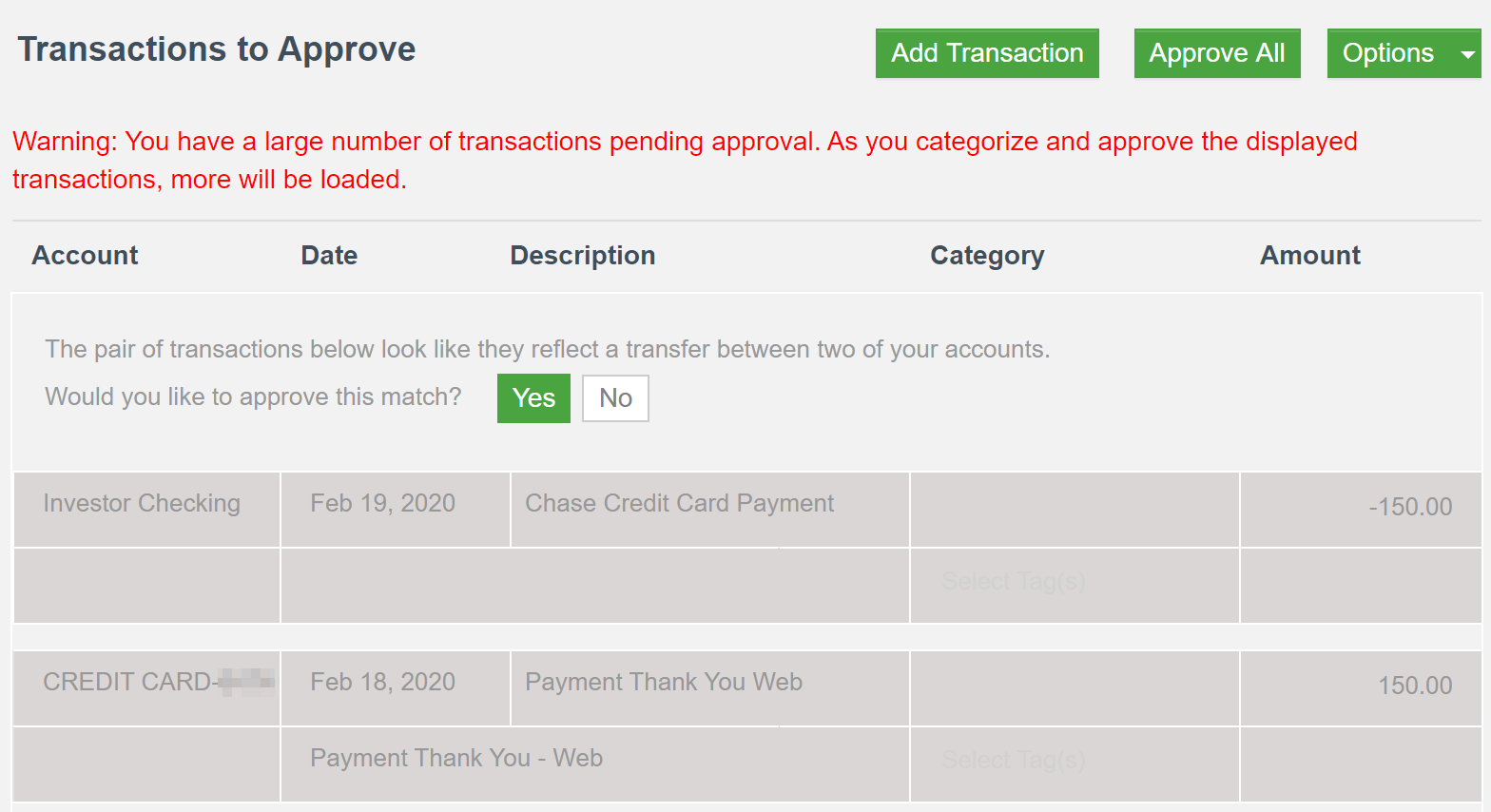 CountAbout Review - approve transactions